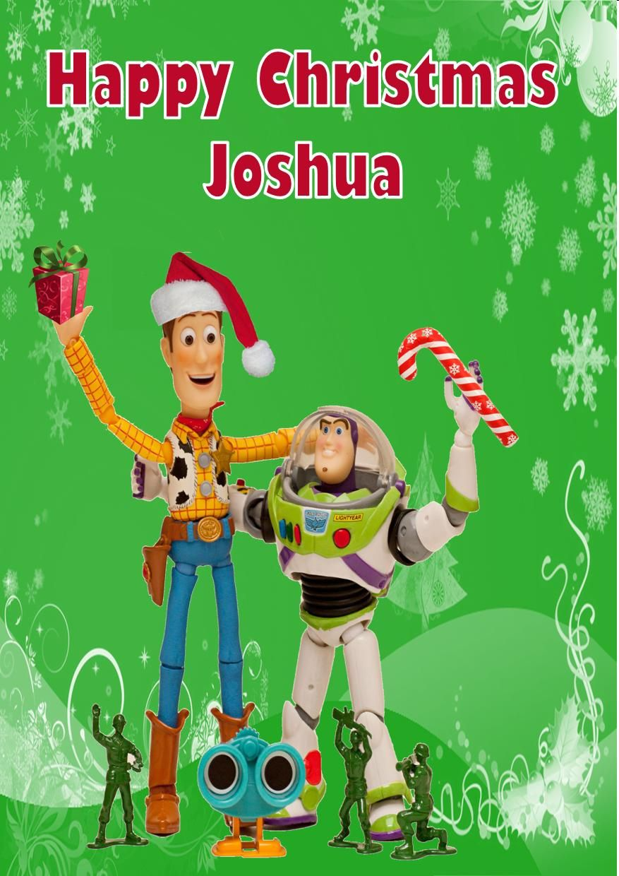 Personalised Woody Amp Buzz Toy Story Christmas Card