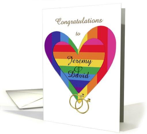 Customizable Gay Wedding Congratulations Card 900355