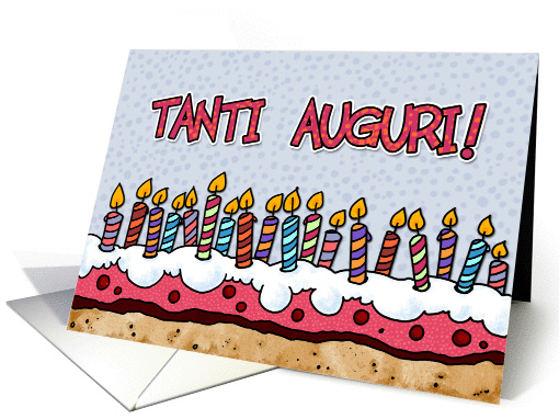 Tanti Auguri Italian Birthday Card 379621