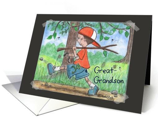 All Boy Birthday Great Grandson Card 340080