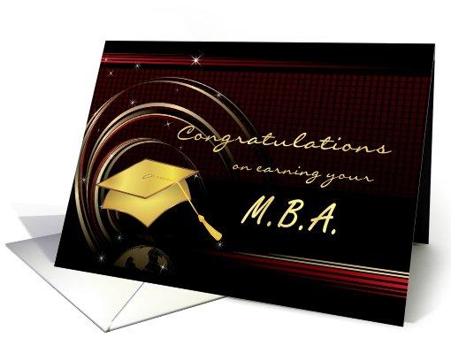 Graduation Masters Degree MBA Card 412290