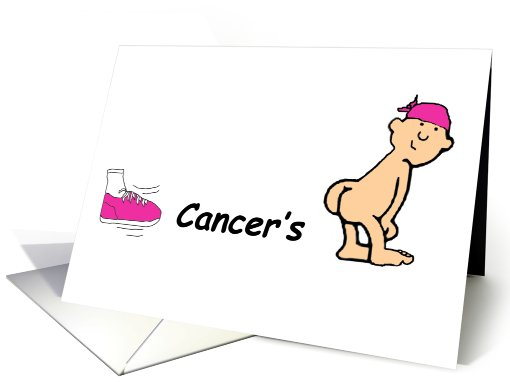 Kick Cancers Butt Card 457885