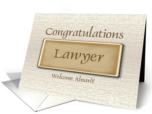 Congratulations New Lawyer Card 915455