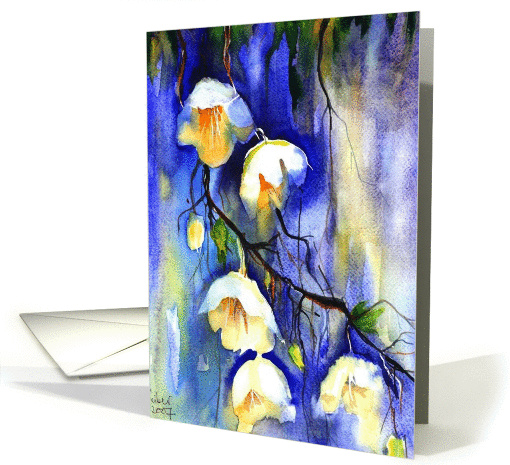 Happy Birthday Floral Watercolor Painting Traditional