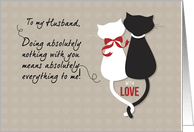 Husband Anniversary Love Cats Card