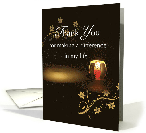 Thank You Family Of Organ Donor Candle Card 1344340