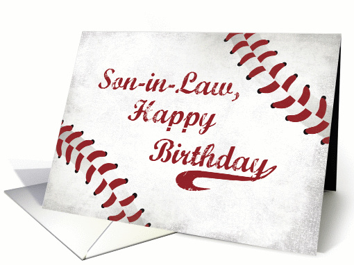 Son In Law Birthday Large Grunge Baseball Card 1435370