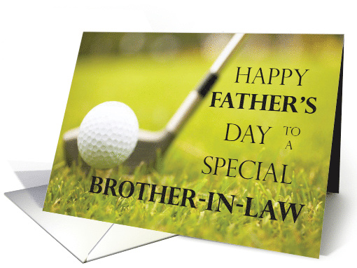 Happy Fathers Day For Brother In Law With Golf Club And