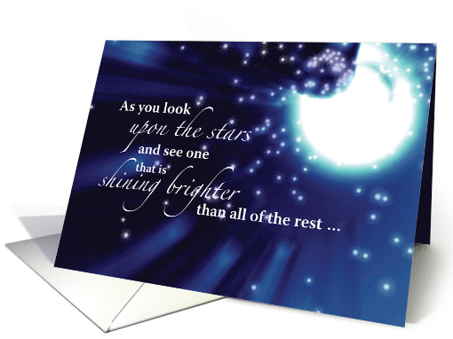 Happy Birthday To Birth Daughter With Moon And Stars Card