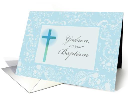 Baptism Congratulations For Godson Religious Cross In