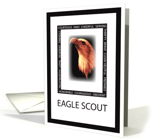 Congratulations For Eagle Scout With Eagle Face Amp Virtues