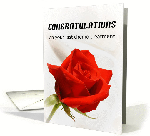 Last Chemotherapy Treatment Greeting Card Red 338958