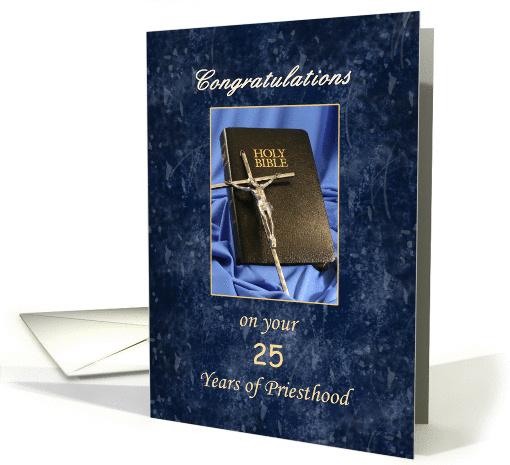 Priesthood 25 Year Anniversary Greeting Card Silver
