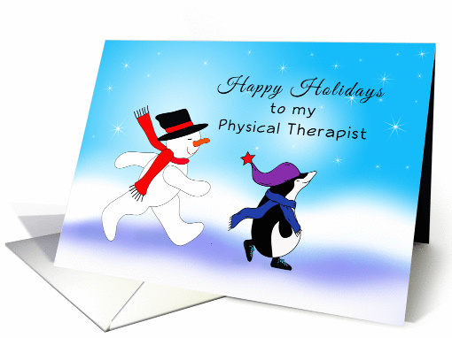 For Physical Therapist Christmas Card Snowman Amp 928943