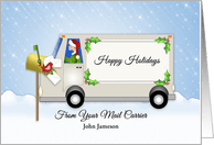 Business Christmas Cards For Postal Service Carrier From