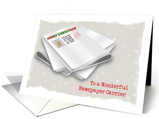 Merry Christmas Newspaper Carrier Card 1337582