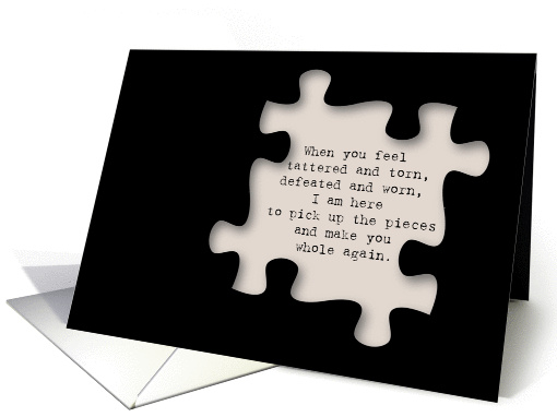 Encouragement And Support Puzzle Piece Card 1352750