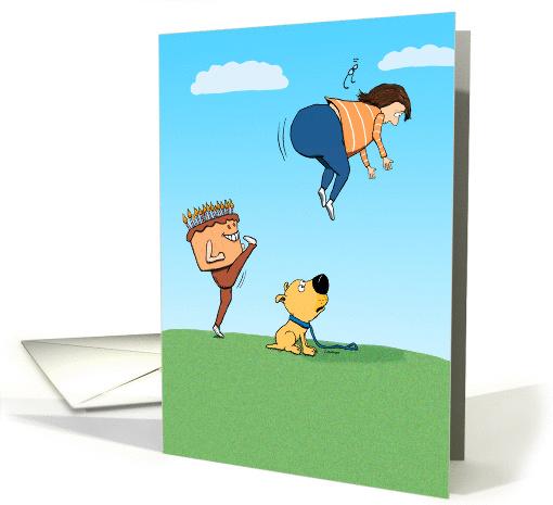 Funny Kick Ass Birthday Card 1392384