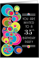 35th birthday invitations from greeting