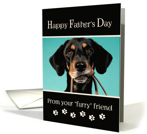 Happy Fathers Day From Dog Custom Photo Card 816846