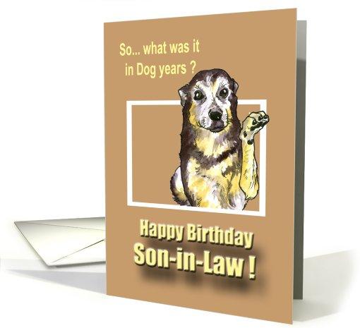 Happy Birthday Son In Law Card 465396