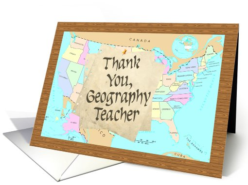 Thank You Geography Teacher Card 401610