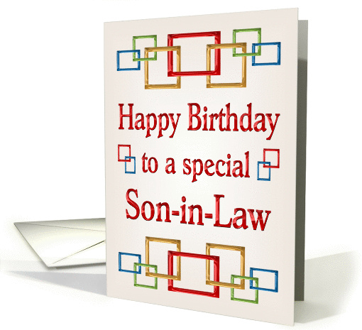 Happy Birthday Son In Law Colorful Links Card 878025