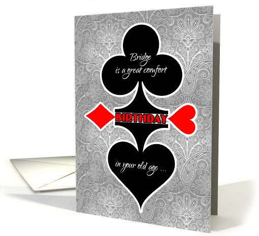 Bridge Game Themed Birthday Funny Card Suits Card 1102512