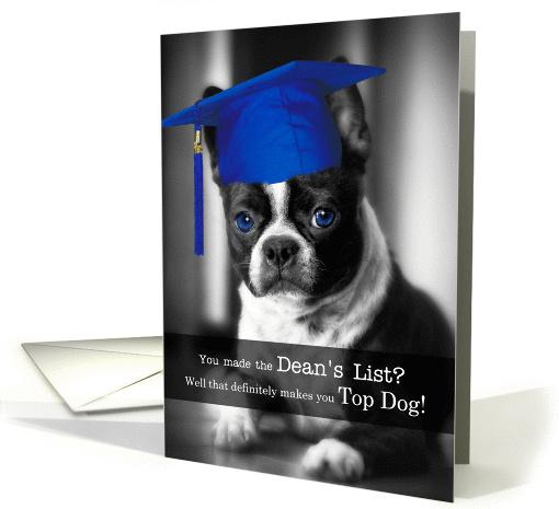Making The Deans List Congratulations Boston Terrier Dog Card