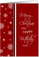 Birthday On Christmas Cards From Greeting Card Universe