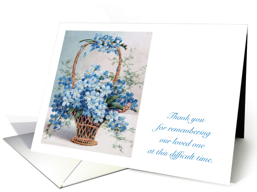 Thank You Sympathy Forget Me Not Flowers Card 1008079
