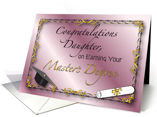 Congratulations Daughter Masters Degree Card 1209324