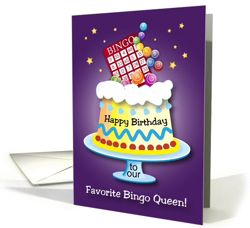 Happy Birthday To Bingo Queen Card 1337286