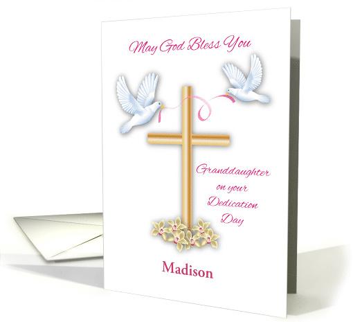Custom Name Dedication Congrats Granddaughter Doves Card