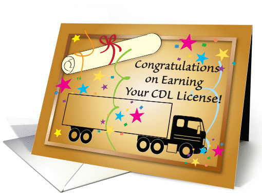 Congratulations CDL Truck License Card 651225
