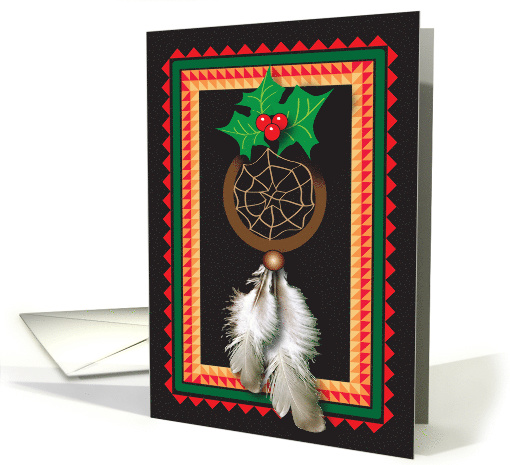 Christmas Native American Dream Catcher Card 676493