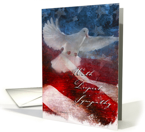 Military Sympathy Card Support Our Troops Card 918785