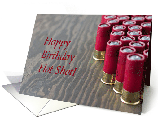 Birthday Wishes For Hot Shot Shooter Card 1244182