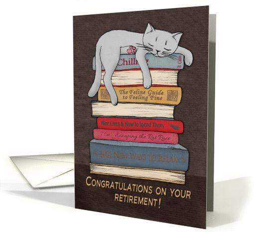 Congratulations On Your Retirement Sleeping Cat