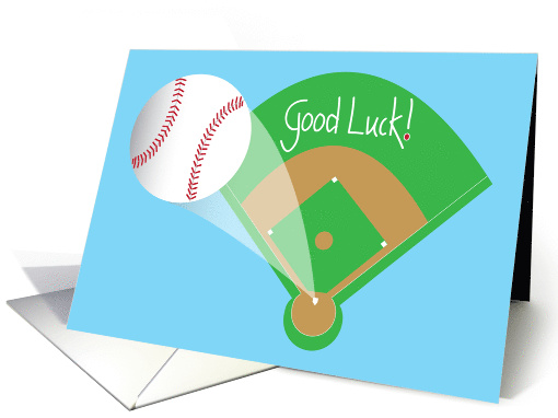 Good Luck In Baseball Game With Home Run Baseball And