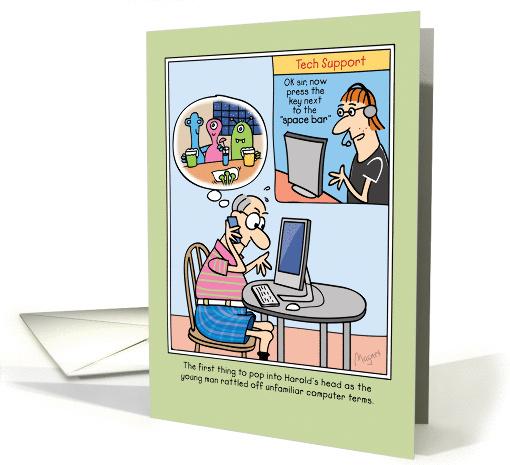 Funny Birthday Computer Tech Support Joke Card 1395358