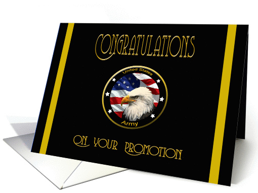 Military Congratulations Army Promotion Flag Amp Eagle