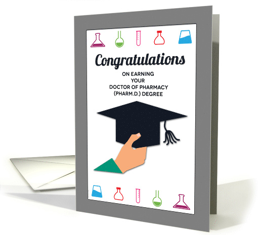 For Pharmacy School Grad Congratulations Doctor Of
