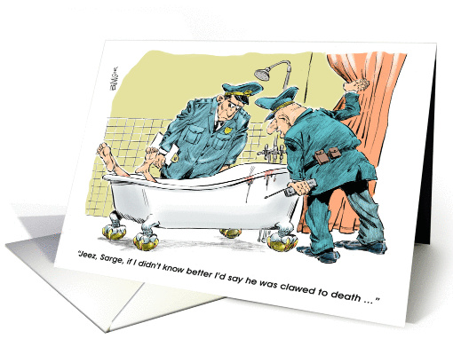 Amusing Law Enforcement Related Retirement Cartoon Card