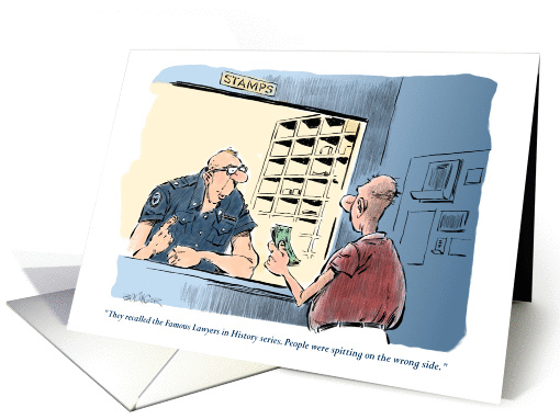 Humorous Mail Carrier Retirement Recognition Cartoon Card