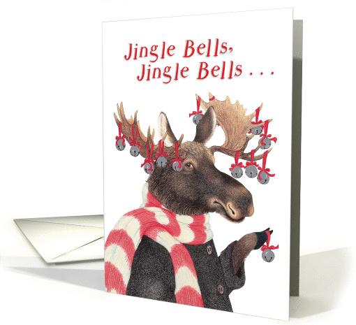 Jingle Bells Moose Christmas Card 1307586