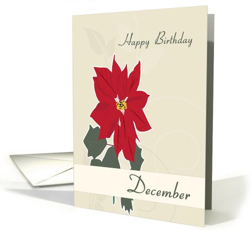 Poinsettia December Birth Flower For Birthday Card 1378154