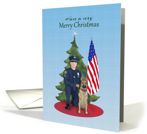 Have A Very Merry Christmas With Police Officer With K9