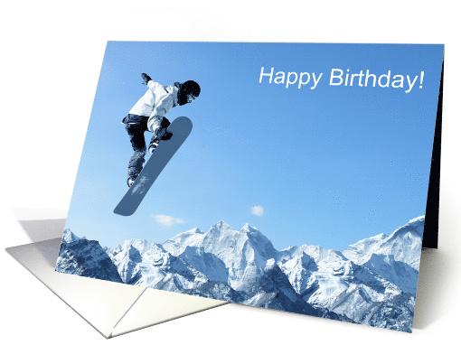 Happy Birthday For Him Masculine Snowboarder Catching