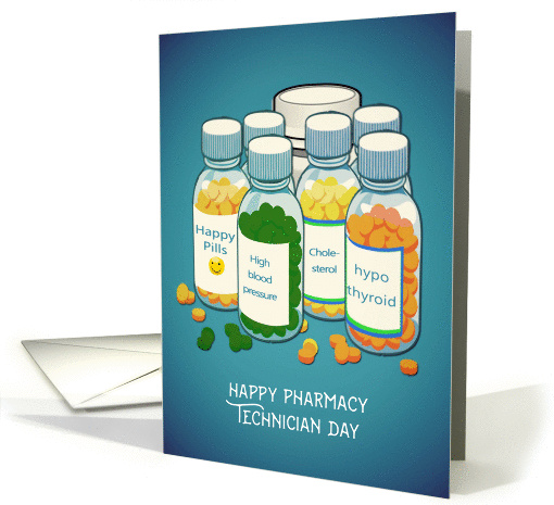 Happy Pharmacy Technician Day Tablets Pills Card 1449718